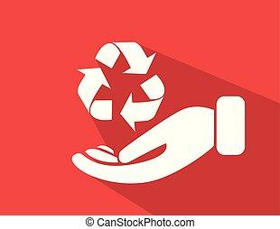 proteção ambiente, recicle, sinal