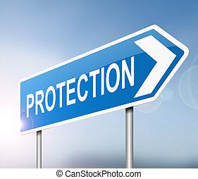proteção, concept.