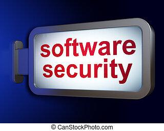 proteção, concept:, software, segurança, ligado, billboard, fundo