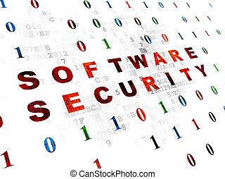 proteção, concept:, software, segurança, ligado, experiência digital