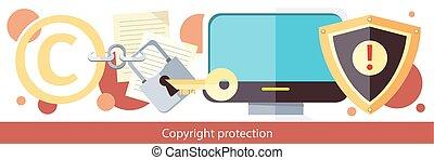 proteção copyright, desenho, apartamento