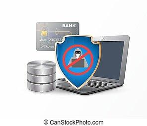 proteção, dados, escudo