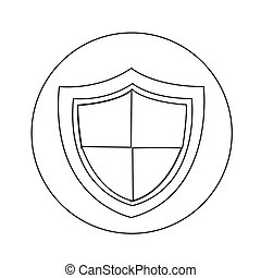 proteção, desenho, ilustração, ícone