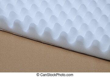 proteção, espuma, e, papelão