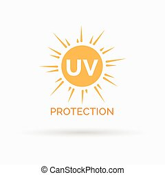 proteção, sol, símbolo, uv, vetorial, desenho, ícone