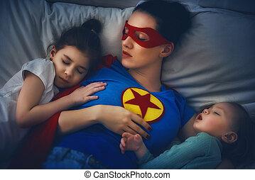 proteção, superhero, mãe