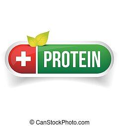 proteína, vector, píldora