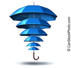 protección, aumentado, empresa / negocio