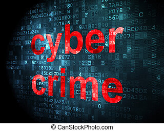 protección, concept:, cyber, crimen, en, fondo digital