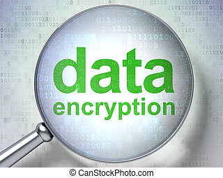 protección, concept:, datos, codificación, con, óptico, vidrio
