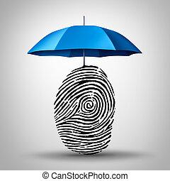 protección, identificación