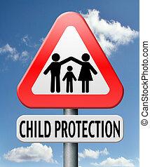 protección, niño