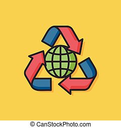Protect our environment, protect our planet vector icon