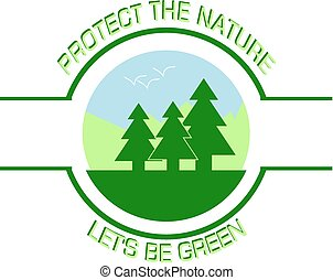 Protect the Nature (Car Bumper Sticker or Side Door Sticker)