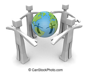 Protect the world environmental concept
