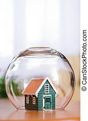 Protect your house - Conceptual view of protecting a house -...