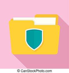 Protected folder icon, flat style