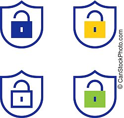 Protected lock icons