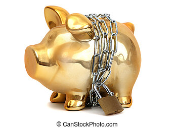 protected piggy bank