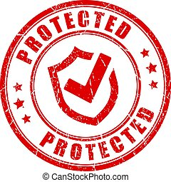 Protected round stamp