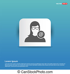 Protected User icon - Blue Sticker button