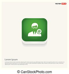 Protected user icon Green Web Button