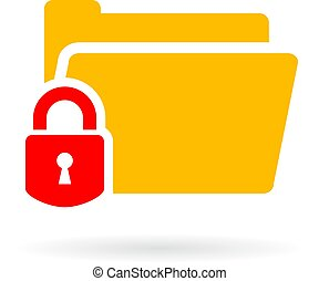 Protected web folder vector icon