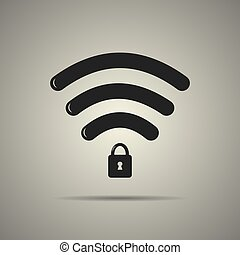 Protected wi-fi icon