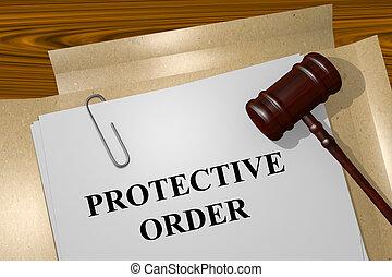protecteur, concept, ordre