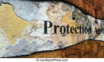 Protection agreement grunge concept