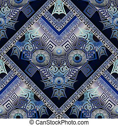 Protection amulet seamless pattern. Nazar. Devil eye....