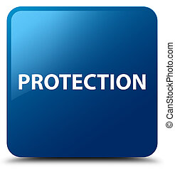 Protection blue square button
