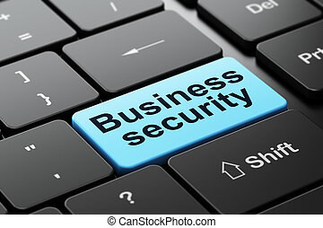 Protection concept: Business Security on computer keyboard background