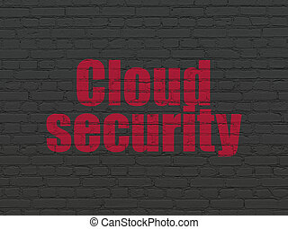 Protection concept: Cloud Security on wall background