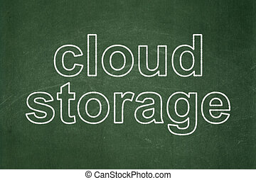 Protection concept: Cloud Storage on chalkboard background