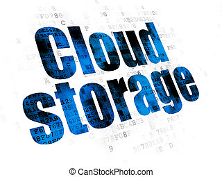 Protection concept: Cloud Storage on Digital background