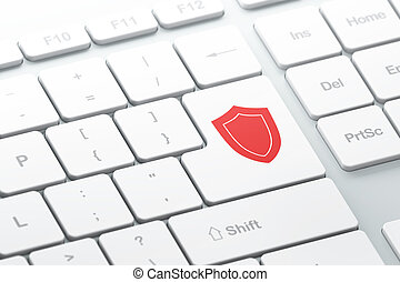 Protection concept: computer keyboard with Shield