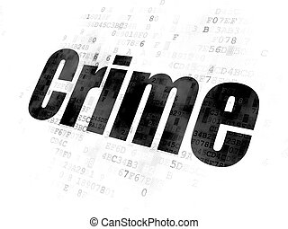 Protection concept: Crime on Digital background