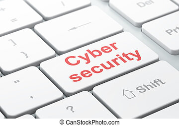 Protection concept: Cyber Security on computer keyboard background