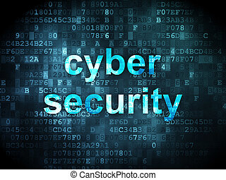 Protection concept: Cyber Security on digital background -...