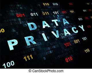 Protection concept: Data Privacy on Digital background