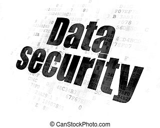 Protection concept: Data Security on Digital background