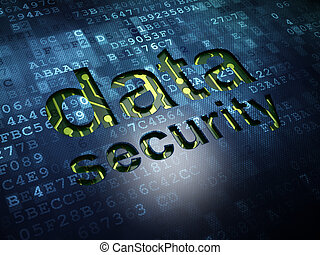 Protection concept: Data Security on digital screen background