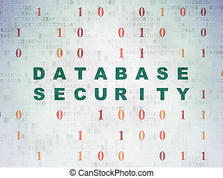 Protection concept: Database Security on Digital Paper background