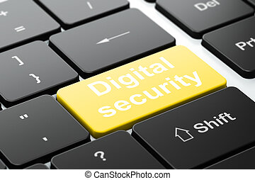 Protection concept: Digital Security on computer keyboard background