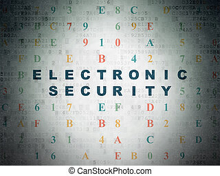 Protection concept: Electronic Security on Digital Data Paper background