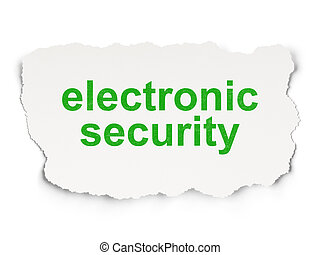 Protection concept: Electronic Security on Paper background