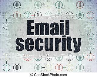 protection, concept:, email, sécurité, sur, numérique, données, papier, fond