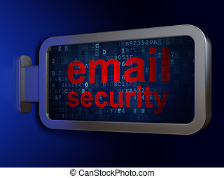 Protection concept: Email Security on billboard background