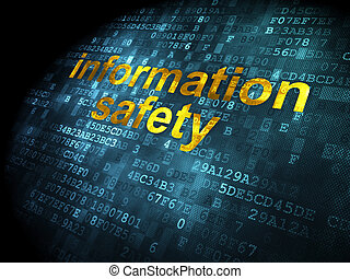 Protection concept: Information Safety on digital background